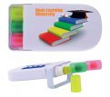 Digital Print Retractable Wax Highlighter Set
