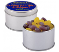 Corporate Colour Mini Jelly Beans in Silver Tin