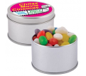 Assorted Colour Mini Jelly Beans in Silver Tin