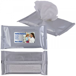 Antil Bacterial Wet Wipes in Silver Pouch