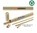 Paper Tube Pen & Pencil Set