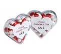 Acrylic Heart Filled with 50g Mints