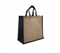 Jute Large Carry Bag - Natural/Black