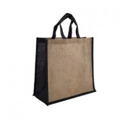 Jute Large Carry Bag - Natural/Black