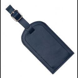 Coloured Luggage Tag Split Leather