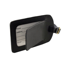 Covered Split Leather Luggage Tag