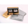 Picture Chocolate - X2 Milk Chocolates in Gold or Silver Box