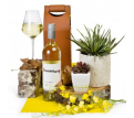 White Wine Delight in Leather Carry Case