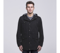 smpli Mens Black Heritage Twill Jacket