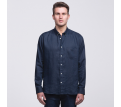 smpli Mens Navy Linen Shirt