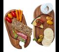Oban Acacia Wine Plate Set