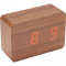 LED Display Clock - Wood
