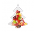 Tree Shaped Clear Plastic Ornament
