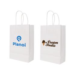 Twisted Handle Kraft Paper Bag(220x280x110mm)