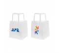 Flat Handle Kraft Paper Bag(150x170x150mm)