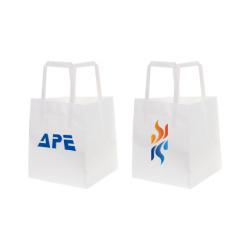Flat Handle Kraft Paper Bag(150x170x150mm)