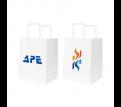 Flat Handle Kraft Paper Bag(215x265x165mm)