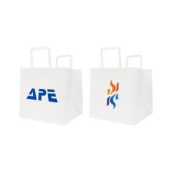 Flat Handle Kraft Paper Bag(250x250x250mm)