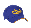 Heavy Brushed Cotton Cap with Contrast Sandwich Peak & Surround Piping