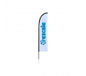 Small(65.3*200cm) Straight Feather Banners