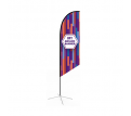 Medium(70.4*300cm) Angled Feather Banners