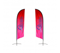 Small(65.3*200cm) Angled Feather Banners