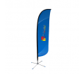 Medium(70.4*300cm) Convex Feather Banners
