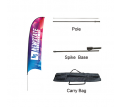 Small(65.3*200cm) Concave Feather Banners