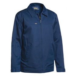 COTTON DRILL JACKET WITH LIQUID REPELLENT FINISH