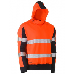 TAPED HI VIS STRETCHY FLEECE HOODIE