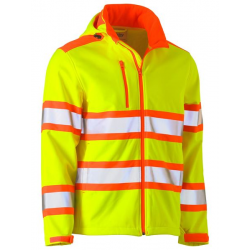 TAPED DOUBLE HI VIS SOFTSHELL JACKET
