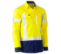FLEX & MOVE™ TWO TONE HI VIS STRETCH UTILITY SHIRT - LONG SLEEVE