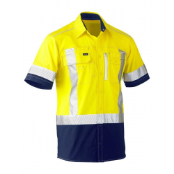 FLEX & MOVE™ TWO TONE HI VIS STRETCH UTILITY SHIRT - SHORT SLEEVE