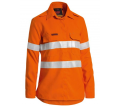 TENCATE TECASAFE® WOMEN'S TAPED HI VIS FR LIGHTWEIGHT VENTED LONG SLEEVE SHIRT