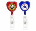 Heart Shaped Retractable Badge Holder