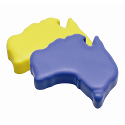 Stress Aussie Map (Blue or Yellow)