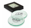 St Patrick Venice Glass Coaster Set of 4 - Round