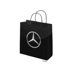GLOSS LAMINATED BAG BLACK PORTRAIT WITH ROPE HANDLE