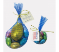 Mesh Bag with Tag with Easter Eggs