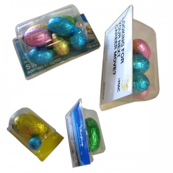 Biz Card filled with Easter Eggs