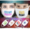 3 Ply 100% Cotton Washable Custom Printed Face Masks