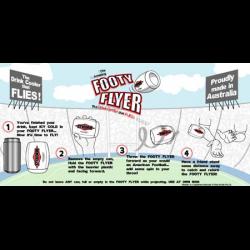 The Amazing Footy Flyer Drink Cooler - Steeden