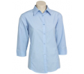 Ladies 3/4 Sleeve Micro Check Shirt